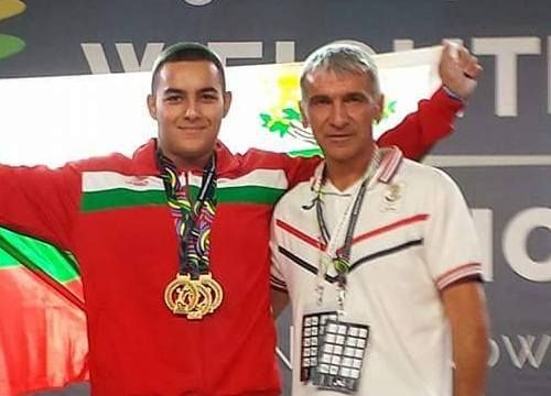 Васил Маринов и треньорът му Пламен Братойчев
