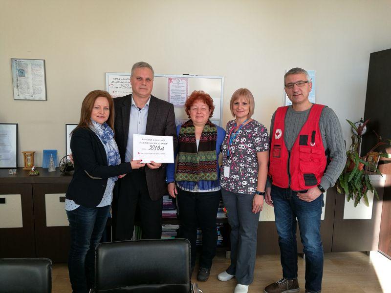 БЧК – Сливен предостави на Областната болница 3018 лева за закупуване на кувьоз