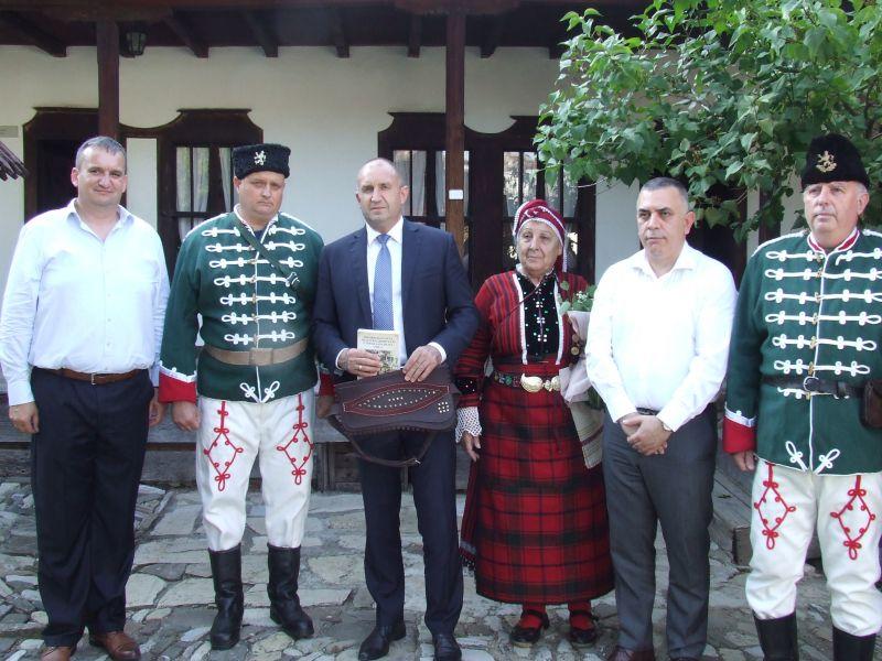 Посещението на президента Радев в къщата-музей