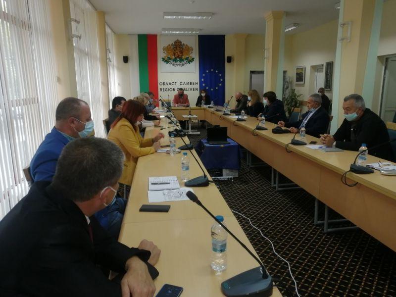 Заседанието на областния щаб