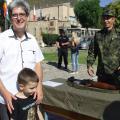 Показаната военна техника и въоръжение предизвика голям интерес и сред възрастни, и сред деца