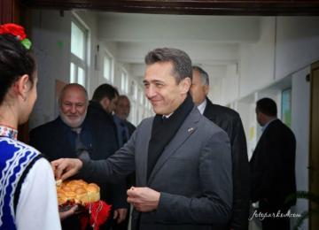 посрещане на на негово превъзходителство г-н Ксавие Лапер дьо кабан