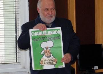 """последния брой на вестник """"Шарли Ебдо"""""""