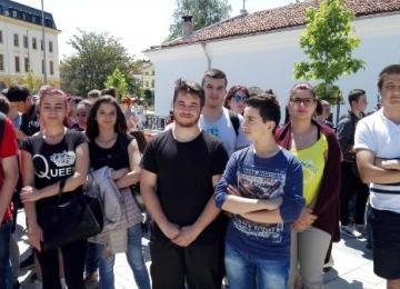 Ученици от ГПЗЕ на честването