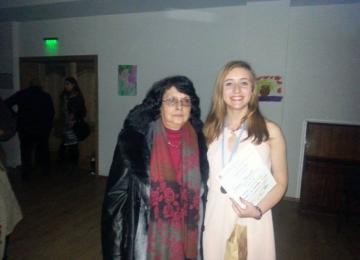 Траяна с Елена Пеева - музикален педагог