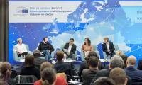 Гостите на събититето представиха опита на своите организации в борбата с дезинформацията в контекста на наближаващите европейски избори през май 2019 г.