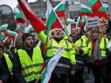 """Български превозвачи протестират пред Европейския парламент в Брюксел срещу проекта за пакет """"Мобилност 1"""""""