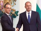 Президентът Румен Радев на среща с германския външен министър Хайко Маас