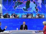 """Президентът на РФ Владимир  Путин  по време традиционната """"Пряка линия"""""""