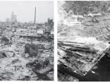 """Хирошима след… """"Малчугана"""" – 6 август 1945 и Нагасаки след """"Дебелака"""" три дни по-късно."""