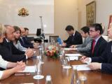 Разговорите между Бойко Борисов,  Екатерина Захариева и първият дипломат на Япония Таро Коно.