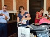 Тризнаците Християна, Анна-Мария и Светослав гостуваха днес в Община Сливен