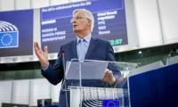 Мишел Барние се обърна към евродепутатите по време на пленарния дебат относно Брекзит на 18 септември