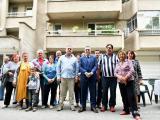 Кметът Стефан Радев поздрави жителите на блока за инициативността им