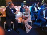 Президентът на България с кралицата на Холандия Максима, специален представител на генералния секретар на ООН за програмата за финанси за развитие.