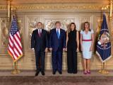 Президентът Румен Радев и съпругата му Десислава Радева с президента на САЩ Доналд Тръмп и съпругата му Мелания