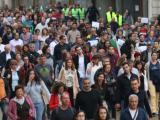 Пореден протест срещу номинацията на заместник-главния прокурор Иван Гешев пред Народното събрание. Снимка: БГНЕС