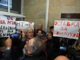 """Сидеров и """"Атака"""" с протест пред БНТ"""