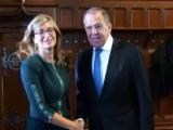 Екатерина Захариева и руският външен министър Сергей Лавров