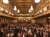 С бурни аплаузи публиката възнагради Софийската филхармония след края на концерта в златната зала на Музикферайн