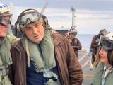 """Бойко Борисов и Херо Мустафа (вдясно) на самолетоносача """"Хари С. Труман""""."""