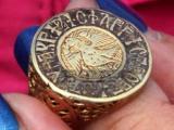 Златният пръстен, открит в Калиакра. Снимка: БТА