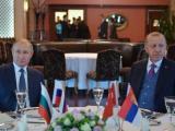 """Президентът на РФ Владимир Путин и  Реджеп Ердоган разговаряха след церемонията по откриване на """"Турски поток"""""""
