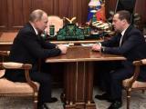 Президентът на Русия Владимир Путин и министър председателят Дмитрий Медведев