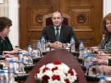 Президентът Румен Радев  на среща с представители на Висшия адвокатски съвет