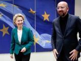Председателите на Европейската комисия и Европейския съвет Урсула фон дер Лайен и Шарл Мишел.