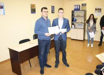 Награждаване на Стоян Иванов