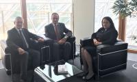 """Екип на ЕИБ начело с Лиляна Павлова, Румен Марков и Соломон Паси  дискутираха процедурите по финансирането на АМ """"Дунав-Егея"""""""