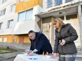 """Кметът Стефан Радев днес официално даде старт на санирането на блок 33 в квартал """"Българка"""""""