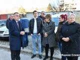 Поредна строителна площадка за саниране откри днес кметът Стефан Радев / Снимка Община Сливен