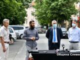 """Стартът на дългоочаквания ремонт на булевард """"Хаджи Димитър"""" бе официално даден днес от кмета на община Сливен Стефан Радев"""