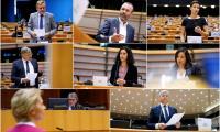 ЕП свиках извънредна пленарна сесия с Урсула фон дер Лайен и Съвета, за да обсъдят новия план за възстановяване и дългосрочния бюджет.©EP
