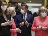 Лидерите Меркел и Макрон