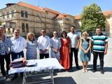На откриването на първата строителна площадка в двора на гимназията по механотехника присъства кметът Стефан Радев