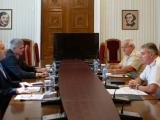 Президентът Румен Радев, адм. Емил Ефтимов и бригаден генерал Стайко Прокопие