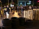 Барикадата пред румънското посолство