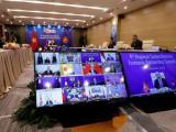 Официалната церемония по подписването се проведе в Ханой, Виетнам, но много от лидерите на държавите, участващи в пакта, се включоха виртуално