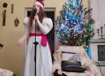 Коледен видеоклип поздрав от Богдана Караиванова