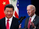 Президентът на КНР, Си Дзинпин и Джо Байдън
