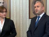 Президентът Румен Радев и Корнелия Нинова