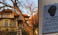 Родовата къща на австрийско-американския психиатър и психосоциолог Якоб Л. Морено в Плевен, България, и поглед отблизо на възпоменателната