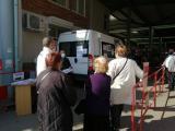 Мобилният ваксинационен кабинет на кооперативния пазар в центъра на Сливен