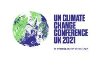 The COP26 official logo. ©UKCOP26.ORG    Евродепутатите подчертават спешната необходимост от ускоряване на действията в областта на климата на COP26 в Глазго